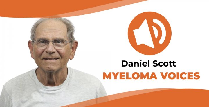 "Myeloma patient Daniel Scott shares his story on the IMF's ""Myeloma Voices"" podcast"