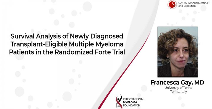 Survival Analysis of the FORTE trial Dr. Francesca Gay ASH 2020