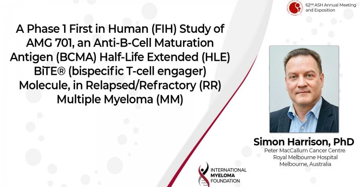 A phase 1 Study of AMG701 in Relapsed Refractory Multiple Myeloma