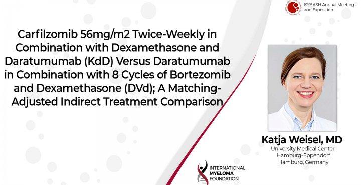 Carfilzomib twice weekly with KdD vs DVd Dr. Katja Weisel ASH 2020