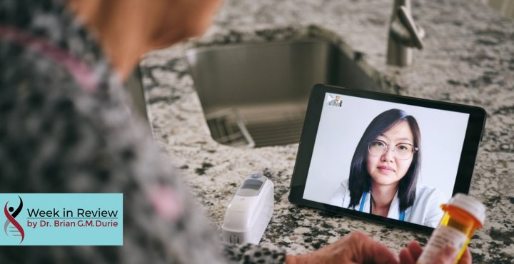 a patient is talking to a doctor virtually
