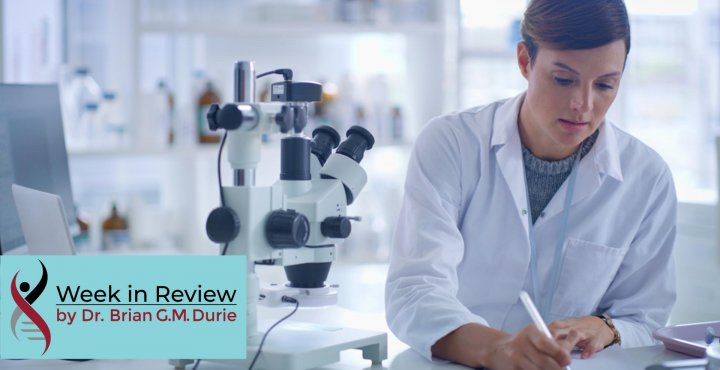 lab researcher with microscope