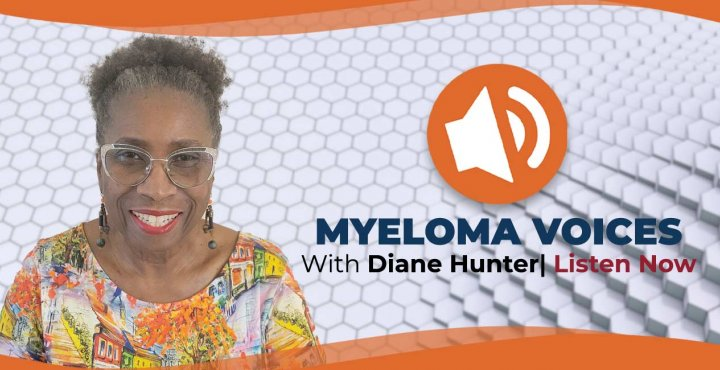 myeloma patient diane hunter in myeloma voices banner