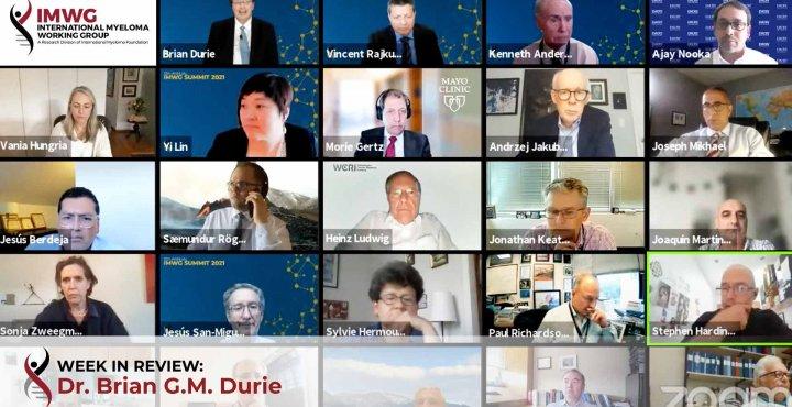 panelists at the international myeloma working group virtual summit