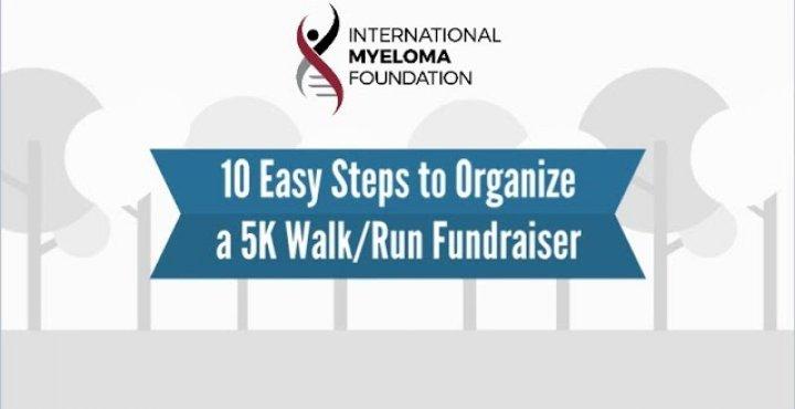 Fundraising banner text:5k walk/run