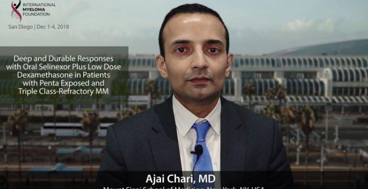 Dr. Ajai Chari at the ASH convention 2018