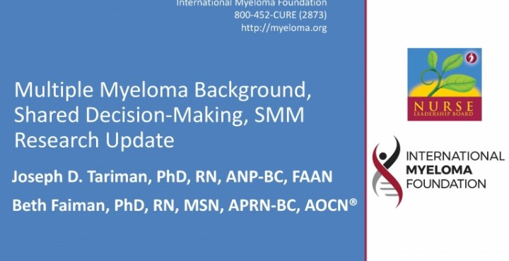 NLB 2018: Multiple Myeloma Background, Shared Decision Making, and Smoldering Update