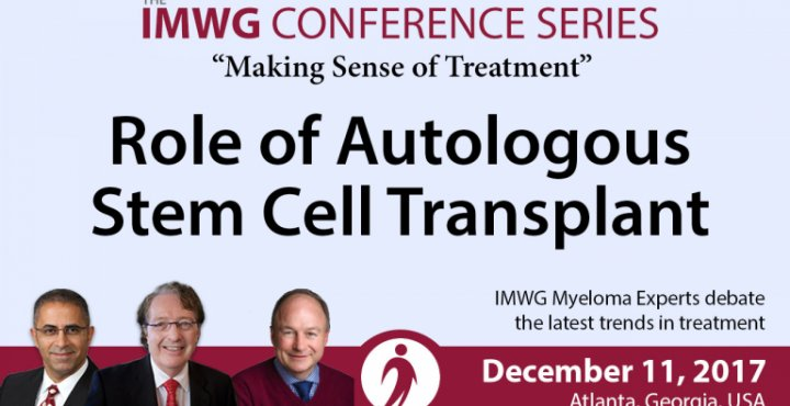 Drs. Brian G.M. Durie, Joseph Mikhael, and Paul Richardson discusses the Role of Autologous Stem Cell Transplant (ASCT) for mutiple myeloma during the IMWG at ASH 2017