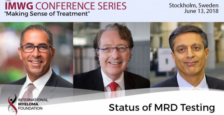 Dr. Brian Durie moderates discussion about the status of minimal residual (MRD) testing with Dr. Joseph Mikhael and Dr. Sagar Lonial