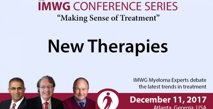 Drs. Brian G.M. Durie, Joseph Mikhael, and Paul Richardson discusses the New Therapies for Multiple Myeloma during the IMWG Conference Series at ASH 2017
