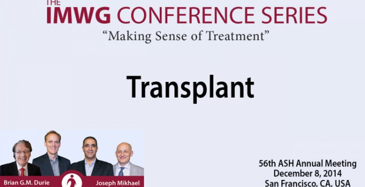 IMWG Conference Series Debate:  56th ASH Annual Meeting