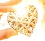 image of a woven heart