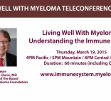 """Dr. Durie's headshot on a banner with text that reads """"Understanding The Immune System"""""""