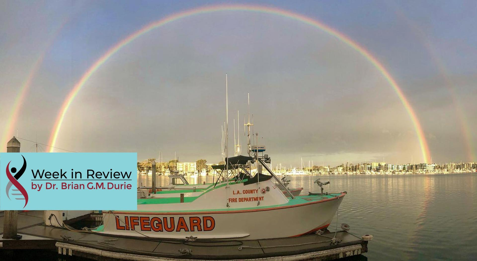 Lifeguard boat rainbow