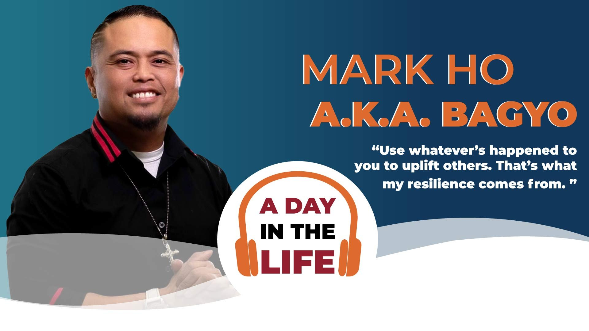 Myeloma patient and hiphop artist Mark Ho a.k.a Bagyo