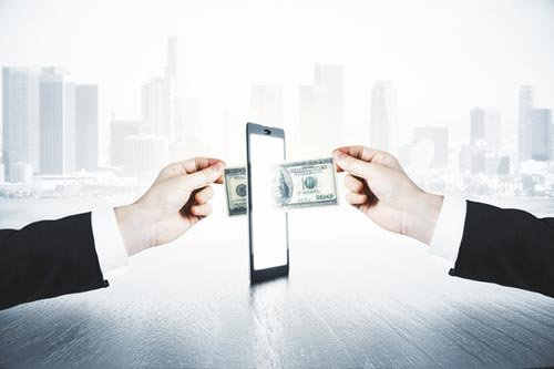 transferring money digitally
