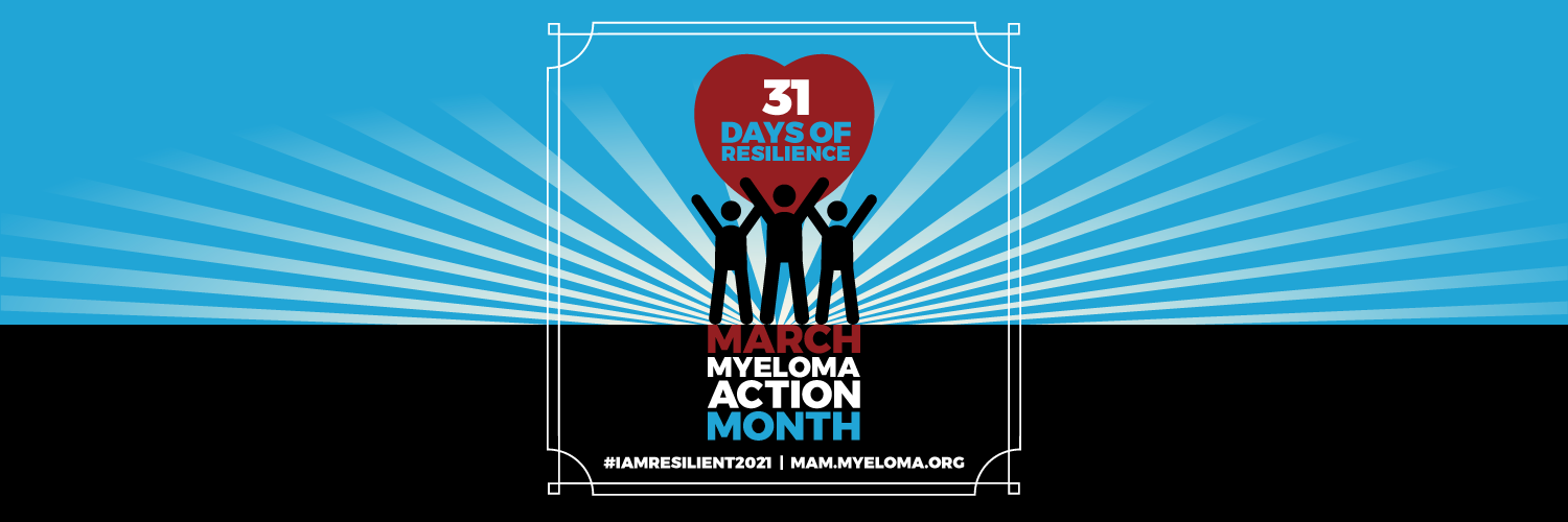 Myeloma Action Month 31 days of resilience banner