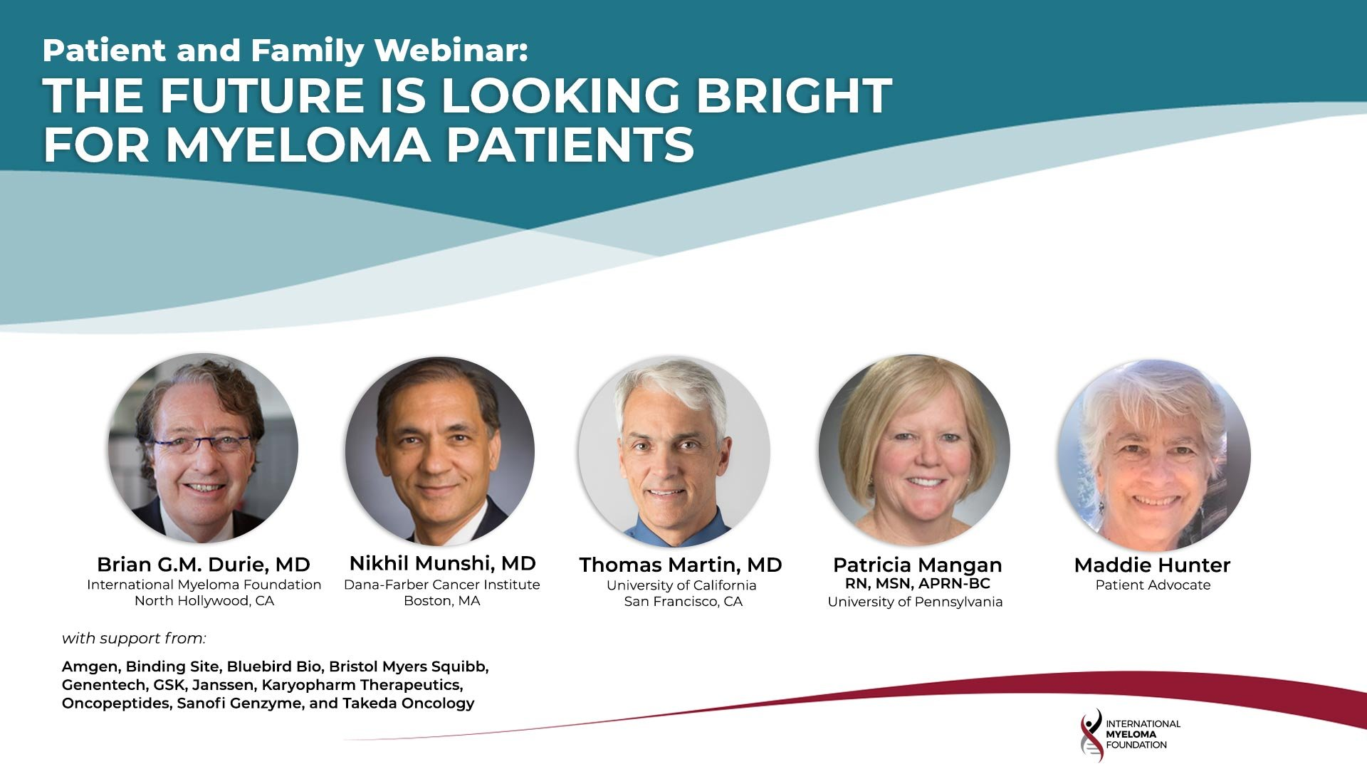 patient and family webinar headshots