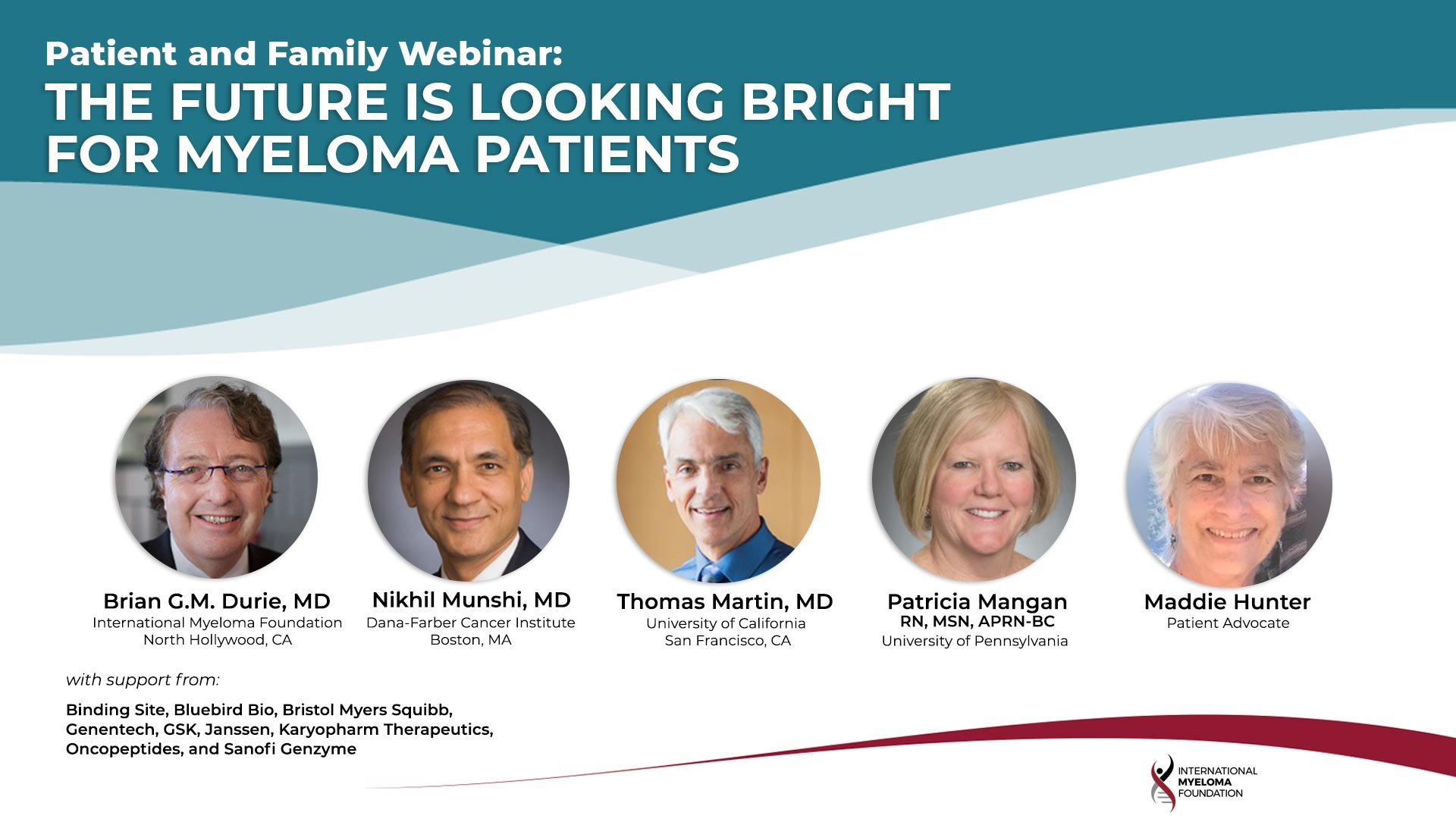Patient and Family Webinar Boston/New England 2021