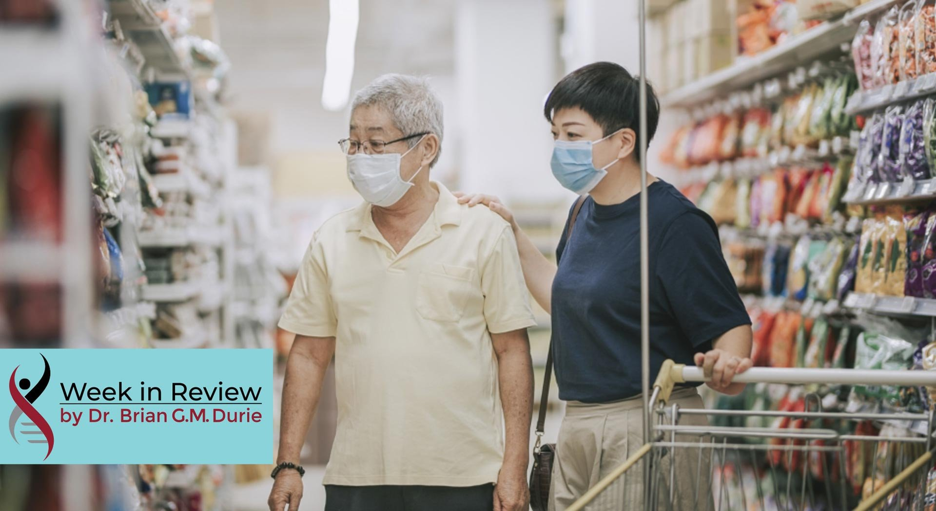 elderly asian family shopping