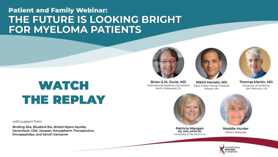 replay patient and family seminar the future is bright for myeloma patients