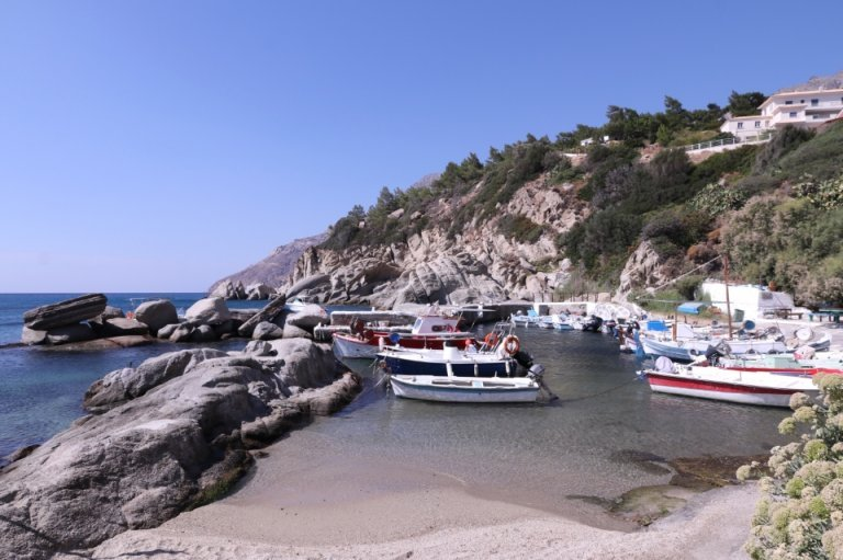 Beach on the coast of the island of Ikaria
