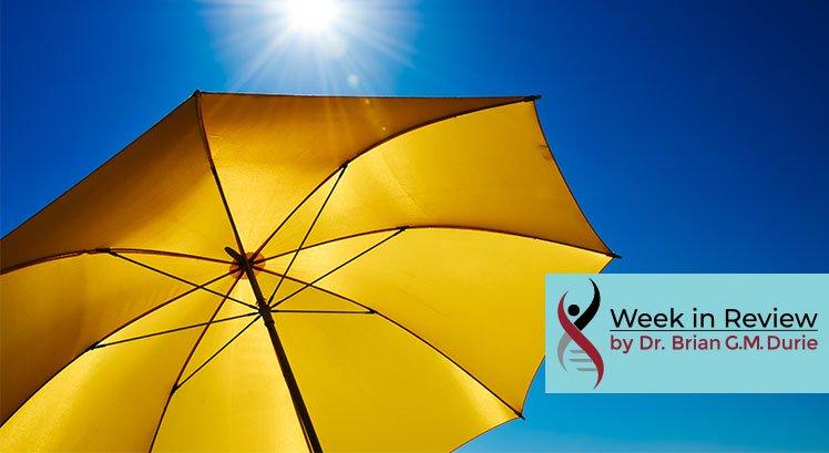 image of an umbrella under a sun