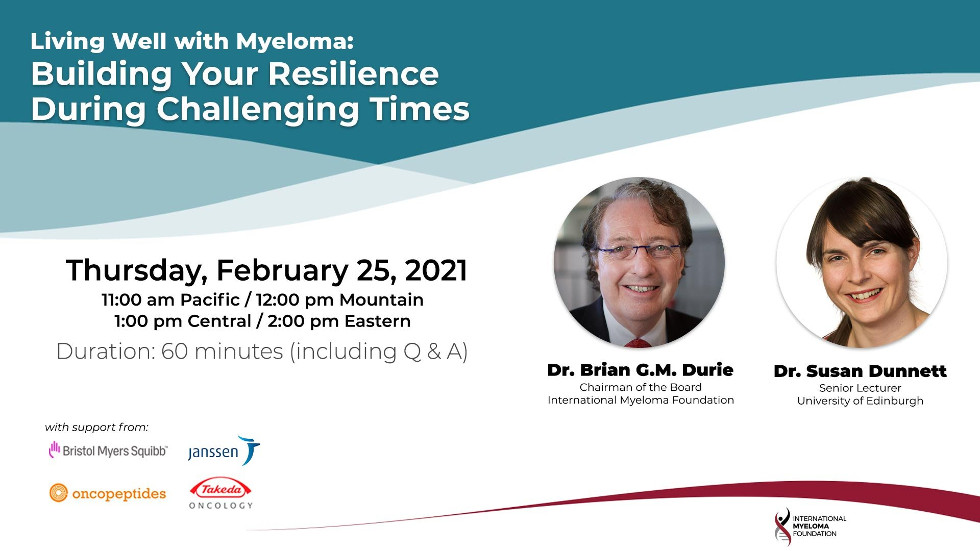 Living Well with Myeloma Resilience