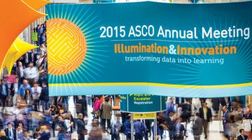 ASCO 2015 convention hall banner