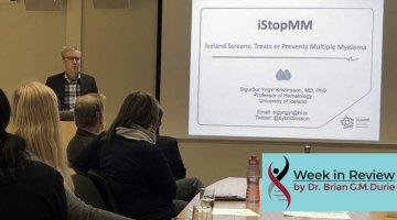 Dr. Sigurdur Kristinsson presenting infront of a group