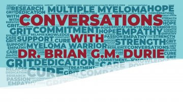 "A word cloud spelling the title of the podcast ""Conversations with Dr. Brian G.M. Durie"""