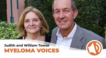 "Judith and William Towse talk about multiple myeloma on ""myeloma voices"""