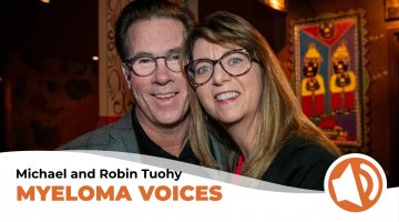 Michael and Robin Tuohy pose during the takeda Myeloma Action Month initiative