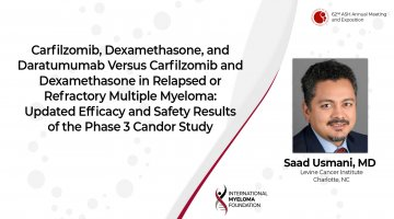 CANDOR clinical trial update by Dr. Saad Usmani at ASH 2020