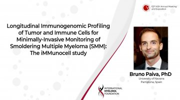 Results from The iMMunocell study Dr Bruno Paiva ASH 2020