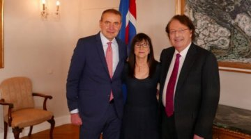 Susie Durie and Dr. Durie with the president of Iceland