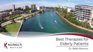 2019 Boca Raton PFS: Best Therapies for Elderly Patients