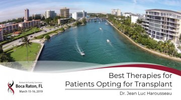 2019 Boca PFS: Best Therapies for Myeloma Patients Opting for Transplant