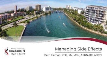 2019 Boca PFS: Managing Side Effects