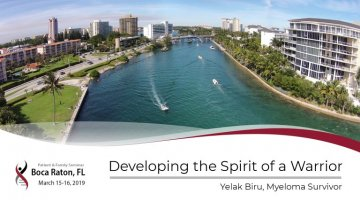 2019 Boca Raton PFS: Developing the Spirit of a Warrior text over an image of Boca Raton
