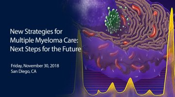 ASH 2018 Satellite Symposium text overlaid on a depiction of a cell