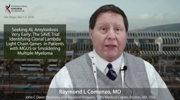 Dr. Raymond Comenzo at the ASH Convention in San Diego