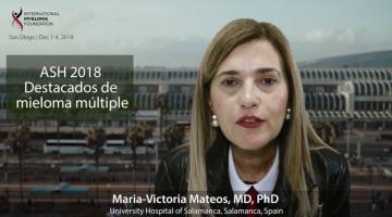 Dr. Maria Victoria Mateos at ASH 18