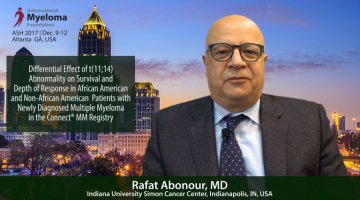 Rafat Abonour, MD at ASH talks t(11;14)  at ASH Convention 2017