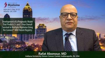 Rafat Abonour, MD at ASHtalks Connect MM Patient Registry