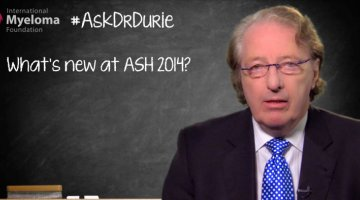 Dr. Durie talks 2014 ASH (American Society of Hematology) meeting