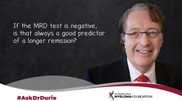 Ask Dr Durie MRD Remission