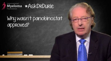 Dr. Durie answers why the FDA ODAC rejected panobinostat for myeloma.