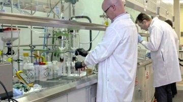 lab technicians in a laboratory