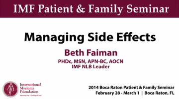 BOCA PNF 2014: Managing Side Effects